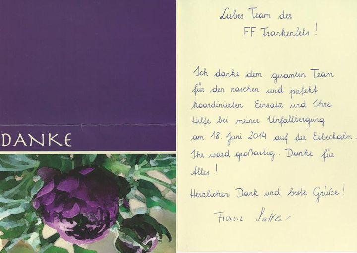 You are browsing images from the article: Erfreuliches Wiedersehen - Danksagung eines verunglückten Wanderers