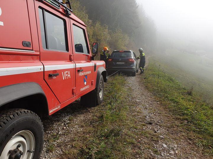 You are browsing images from the article: 20.10.2019: Fahrzeugbergung im unwegsamen Gelände