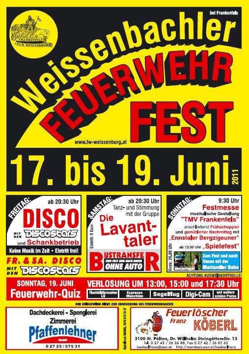 You are browsing images from the article: Weißenbachler Feuerwehrfest vom 17. bis 19.06.2011